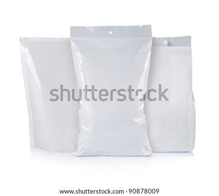 potato chips plastic pack. isolated over white background