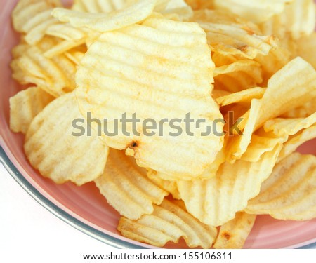 Potato chips stack