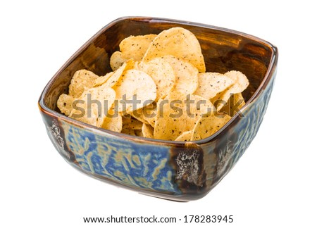 Potato chips with onion