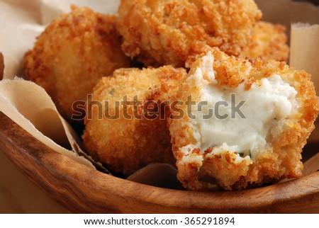 Potato Croquettes Mashed Potatoes Seasoned Fresh Stock ...
