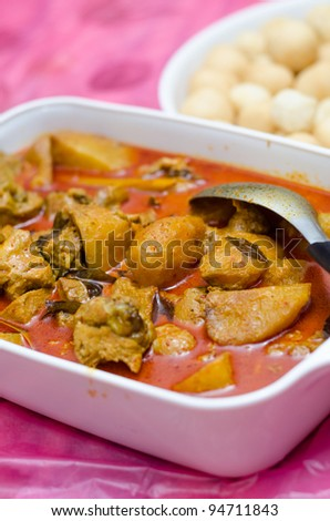 potato curry - stock photo