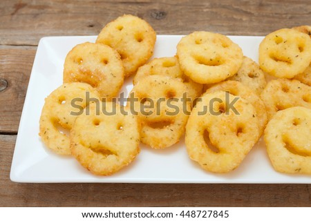 Potato fried smileys chips