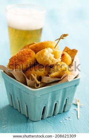 Potato fries with cod - stock photo