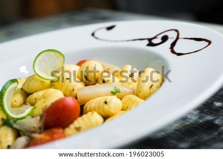 Potato gnocchi - stock photo