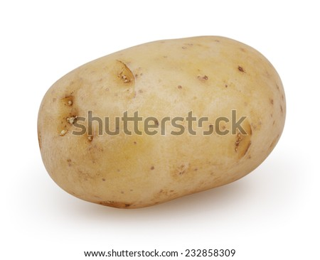 Potato isolated on white background with clipping path - stock photo