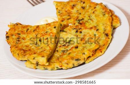 potato pancake - stock photo