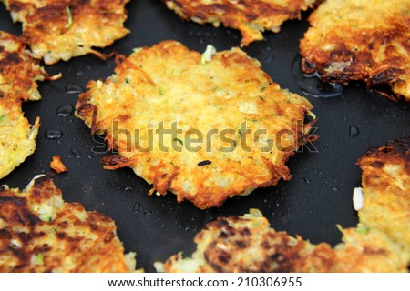 potato pancakes - stock photo