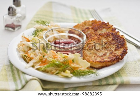 Potato patties - stock photo