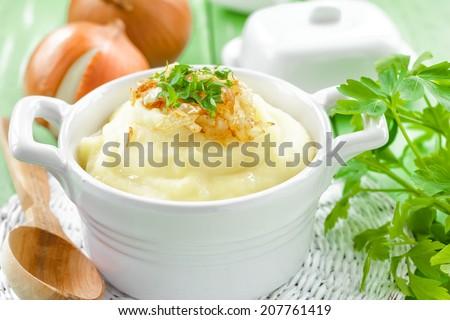 Potato puree - stock photo