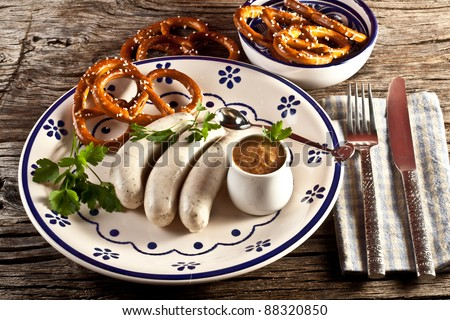 potato rostie with tomato and bavarian mustard - stock photo