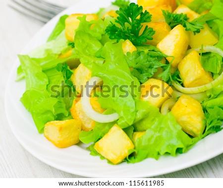 Potato salad - stock photo