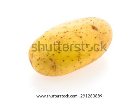 Potato vegetables isolated on white background