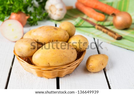 Potatoes and vegetables - stock photo
