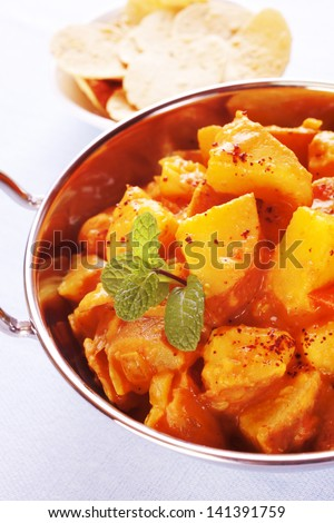 Potatoes cooked in a curry sauce, Bombay Potato is an invention of the Western curry houses.