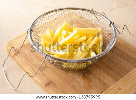 potatoes for french fries - stock photo