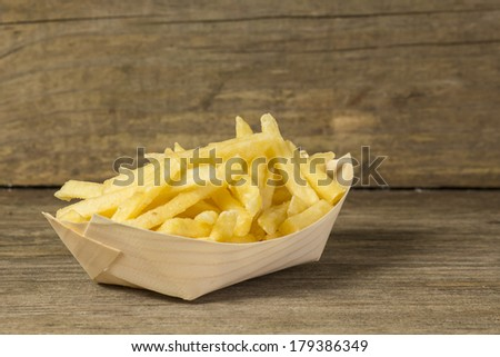 Potatoes fries in the plate  - stock photo