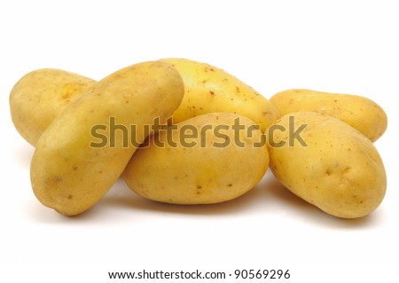 potatoes isolate on a white background
