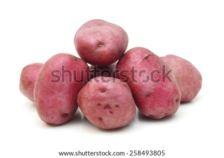 Potatoes isolated on a white background - stock photo
