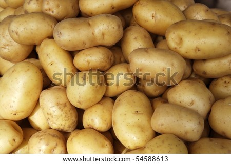 potatoes raw vegetables food pattern in market - stock photo
