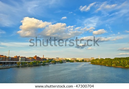 Potomac river, Washington DC - stock photo