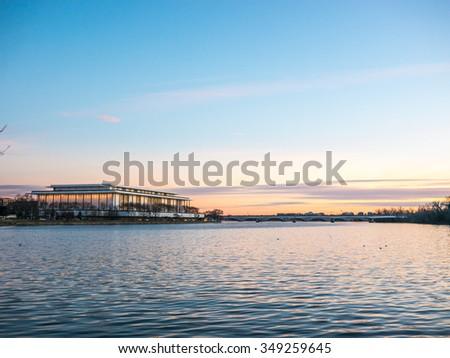 Potomac Sunset - stock photo