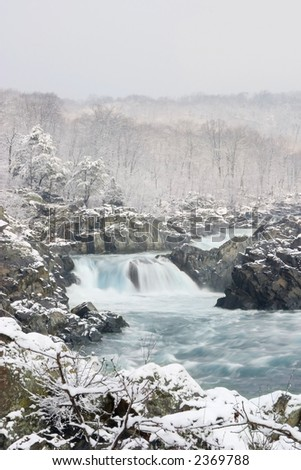 Potomac Winter - stock photo