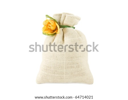 Potpourri sachet bag isolated on white - stock photo