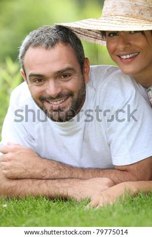 potrait of a couple - stock photo
