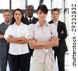 Potrait of a young multi-racial Business Group - stock photo