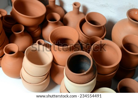 pots - stock photo