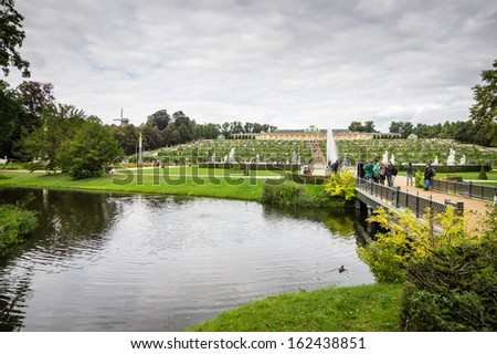 POTSDAM, GERMANY - SEPTEMBER 19: Potsdam Sanssouci Palace on September 19, 2013 in Potsdam, Germany.