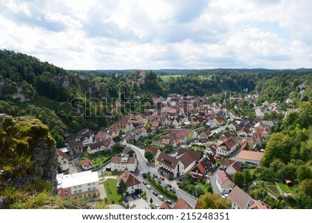 Pottenstein city - stock photo