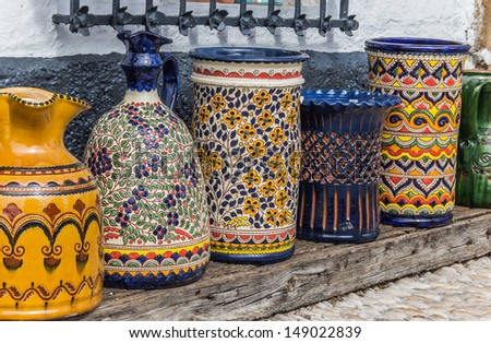 Pottery at a souvenir shop in Ubeda, Spain