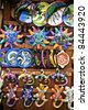 Pottery at the market in Playa del Carmen - stock photo