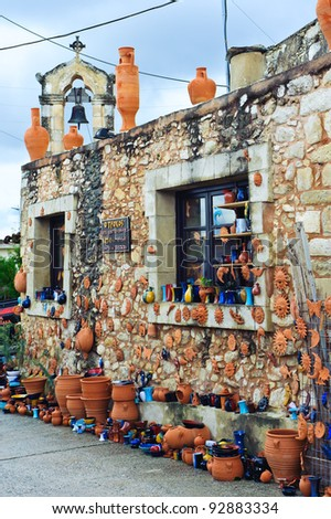 Pottery in Margarites/Crete/Greece - stock photo