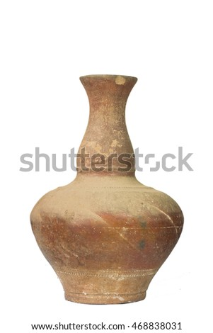 Pottery  isolated on white background