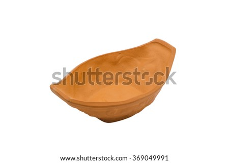 pottery on white background
