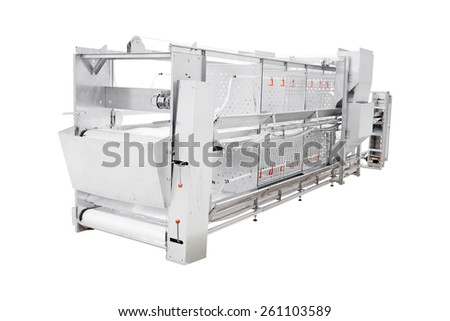 Poultry equipment  isolated under the white background - stock photo