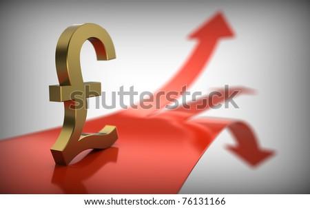 Pound exchange rate. - stock photo
