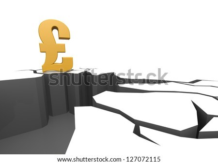 Pound on the cliff - stock photo