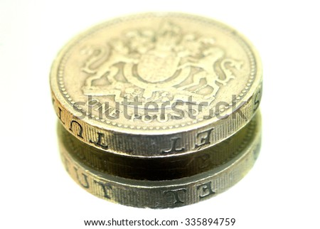 Pound sterling coin - stock photo