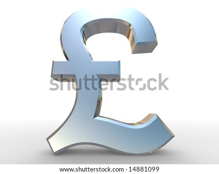 Pound sterling sign - stock photo