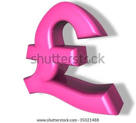 pound sterling sign in pink. symbol for british currency and concept for gay or homosexual spending power - stock photo
