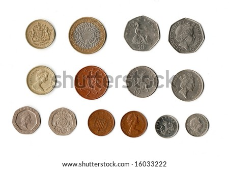 pound streling coins - stock photo
