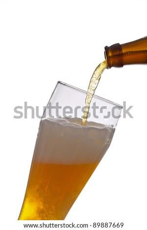 Pour the beer - stock photo