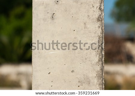 Poured cement   for construction - stock photo