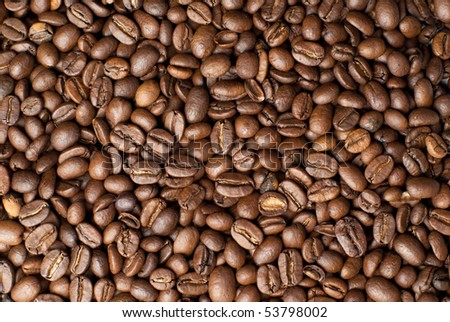 poured coffee - stock photo