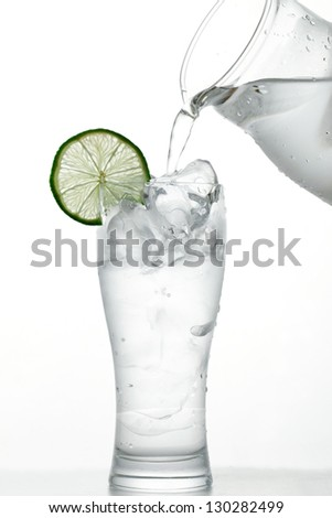 Poured into water - stock photo