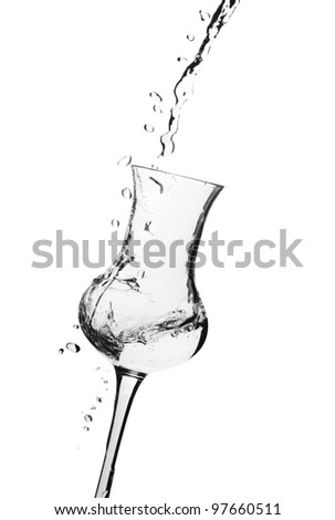 Pouring a glass - stock photo