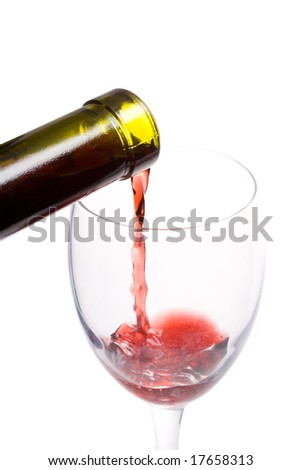 pouring a wine